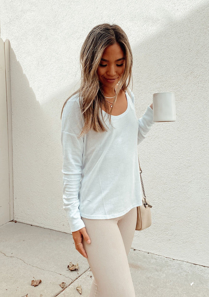 [Color: Baby Blue] Lovestitch lightweight thermal long sleeve yoga shirt with a cute twist back detail. The perfect thin lightweight long sleeve top for summer