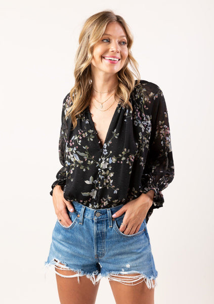 Adorbs Boho Button Up Blouse