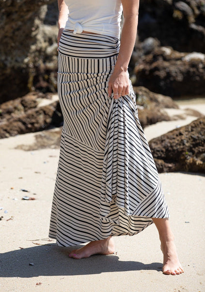 Hotline Striped Maxi Skirt