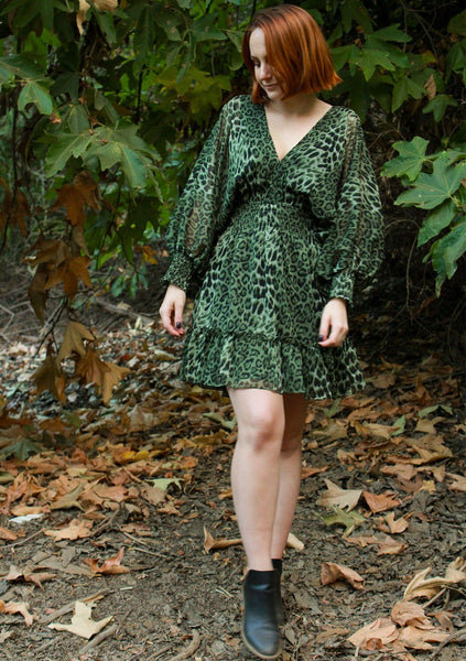 Garden Party Leopard Mini Dress