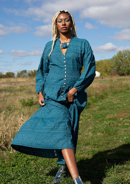 Isn't It Romantic Maxi Peasant Dress