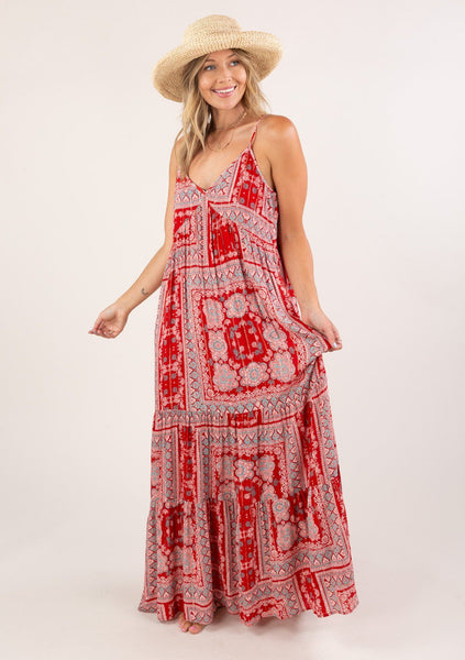 Summer Fridays Paisley Maxi Dress