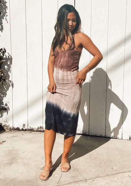 Pink Skies Tie Dye Ribbed Tank Dress