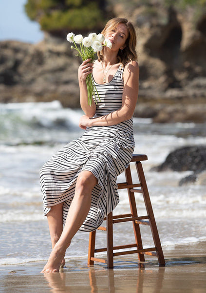 Tan Lines Striped Maxi Dress