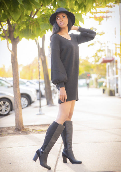 First Love Ribbed Sweater Dress