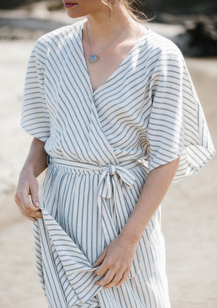 Ines Striped Kimono Sleeve Dress