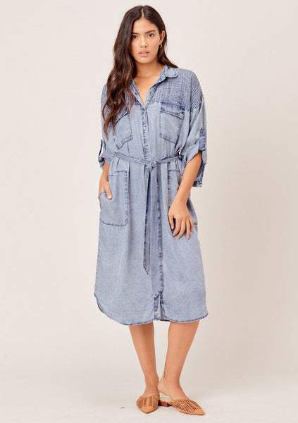 Corey Acid Wash Shirt Dress