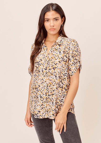 Artist's Animal Print Casual Shirt