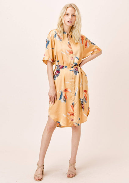 Arina Belted Shirt Dress