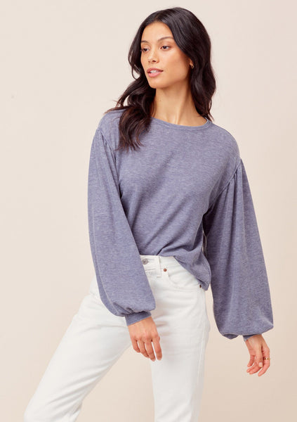 Jennah Balloon Sleeve Thermal Top
