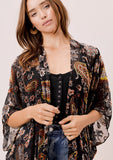 [Color: Black/MultiPaisley] Lovestitch Paisley velvet burnout kimono