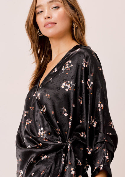 Jolene Floral Side Tie Blouse