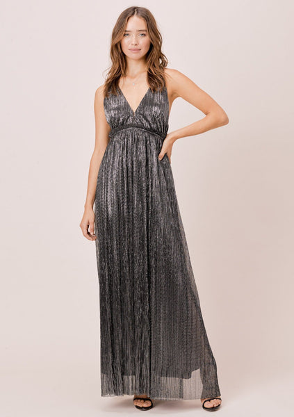 Lyric Metallic Maxi Dress