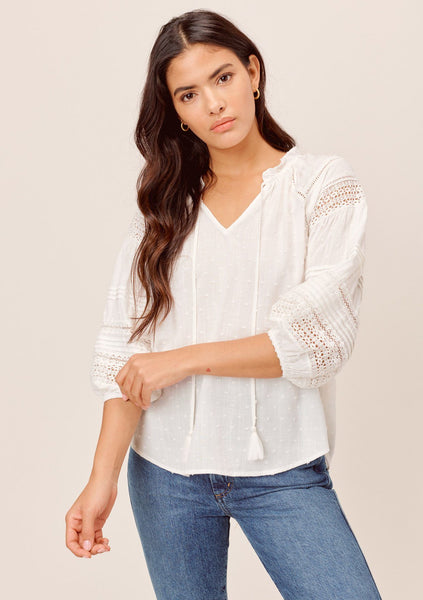 Picnic Day Peasant Top