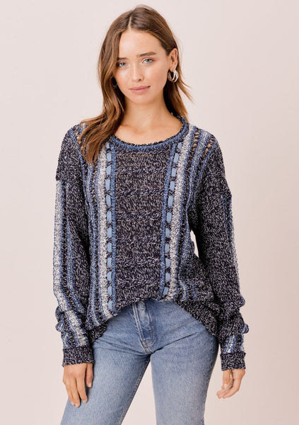 Frida Melange Knit Sweater