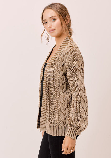 Miranda Cable Knit Cardigan