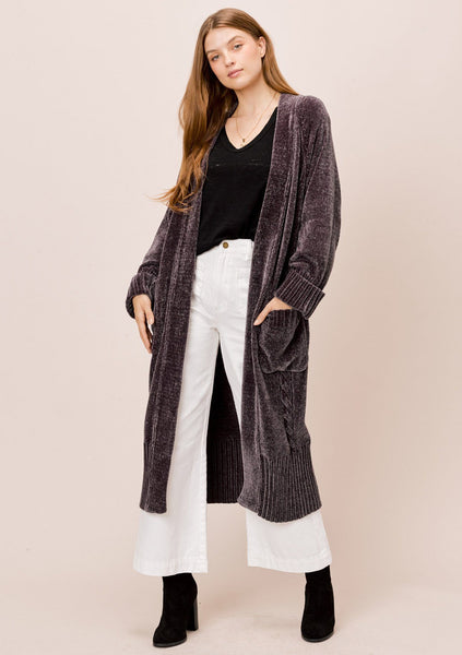 Winter Chenille Cable Knit Cardigan