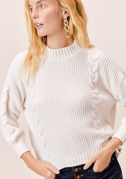 Quinn Chenille Cable Knit Sweater