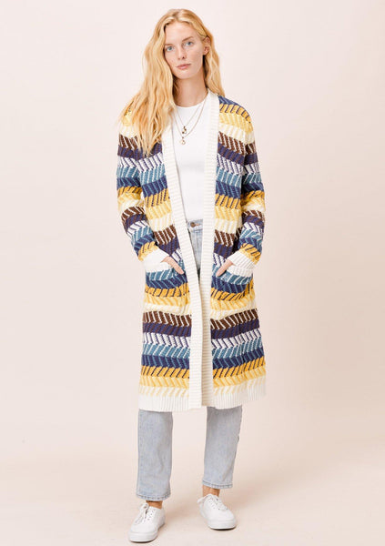 Dawn Chevron Stripe Cardigan
