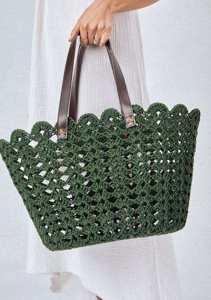 Timber Cove Crochet Tote