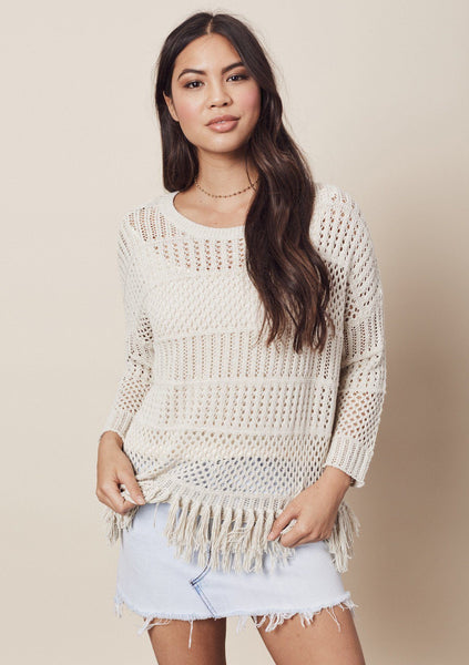 Tenley Crochet Sweater