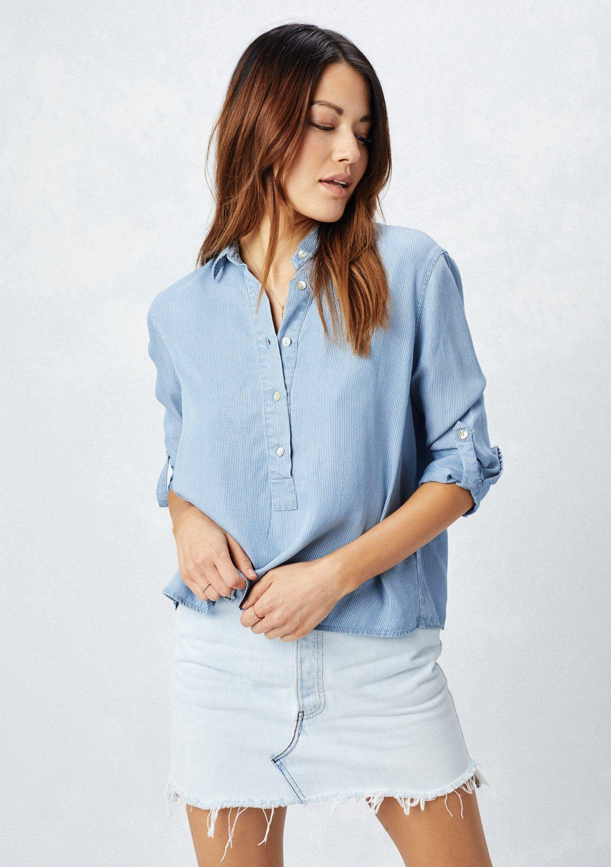 1030e9f8e0d0 Lovestitch-Cropped-Striped-Blue-Button-Detail-Collared-Shirt -3.jpg?v=1546972874