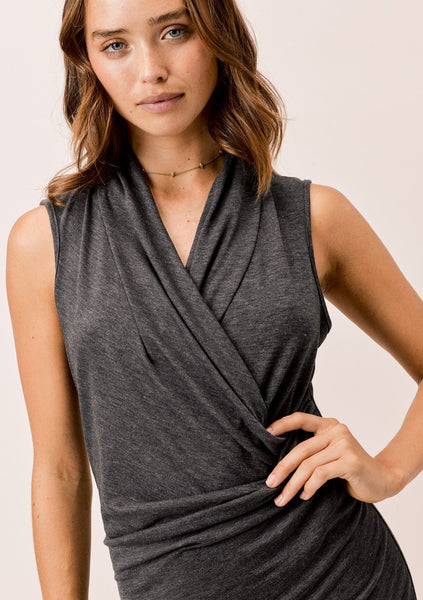 Brooke Draped Front Dress