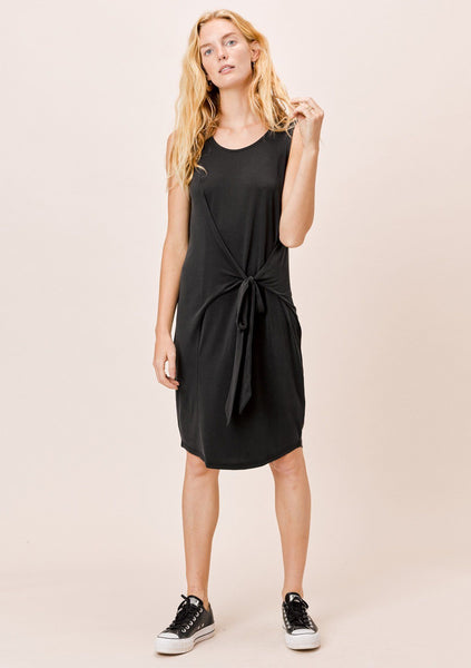 Lisa Draped Tie Front Dress