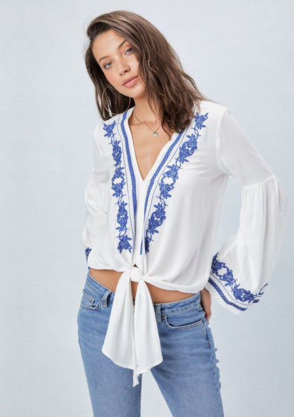 Ana Embroidered Top