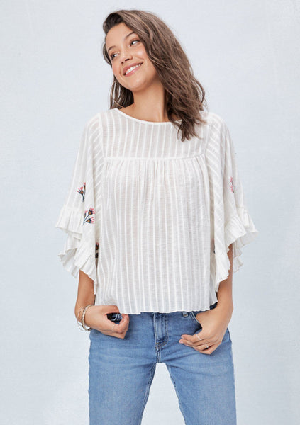 Lina Embroidered Top