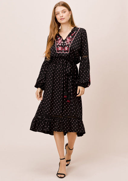 Keita Embroidered Dress