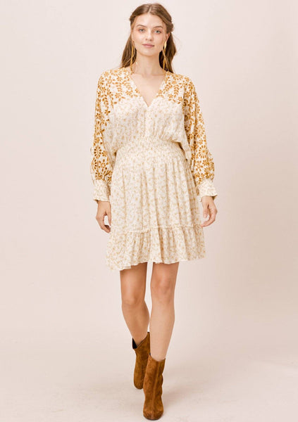 Nellie Embroidered Mini Dress