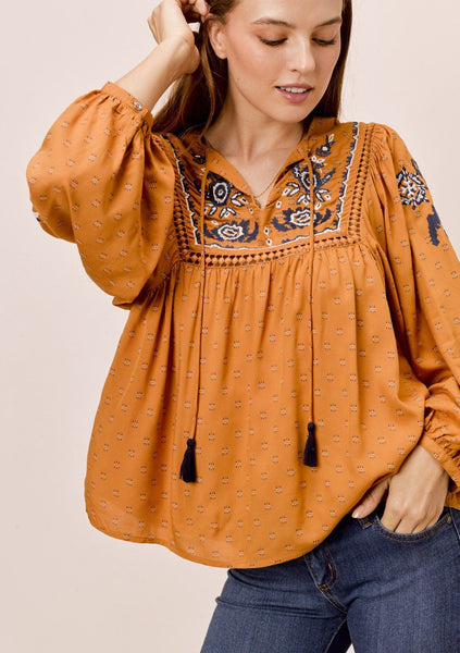 Renee Embroidered Top