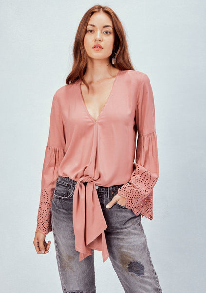 Estella Eyelet Sleeve Top