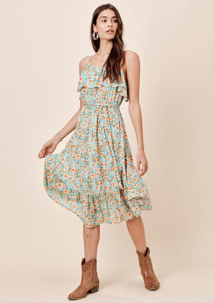 Devyn Floral Ruffle Dress