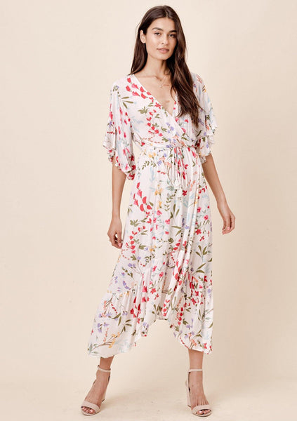 Rohana Floral Midi Dress
