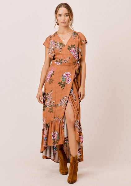 Deisy Floral Wrap Dress