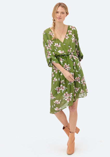 Stefanie Floral Asymmetrical Dress