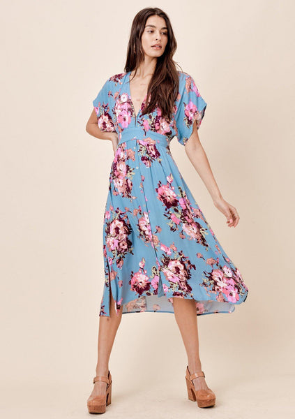 Rosella Floral Tie Back Dress