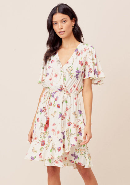 Tasha Flutter Sleeve Mini Dress