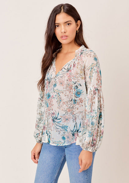 Ina Sheer Floral Top