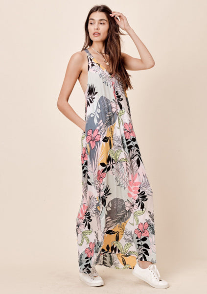 Sanni Tropical Floral Maxi Dress