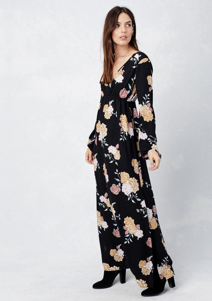 Long Sleeve Holiday Dresses Lovestitch Floral Maxi Dresses For Women
