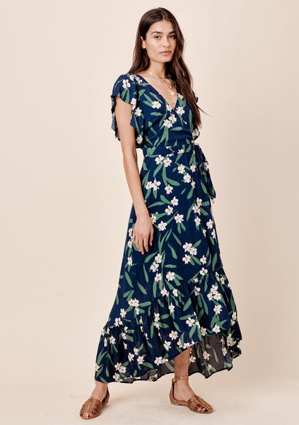 Mari Floral Wrap Dress
