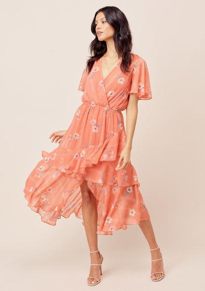 Miriam Floral Ruffled Dress