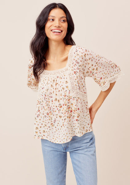 Britton Baby Doll Floral Top