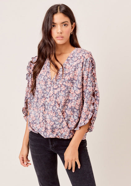 Rafaella Ruffled Sleeve Top