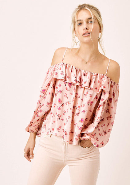 Blaise Volume Sleeve Floral Top