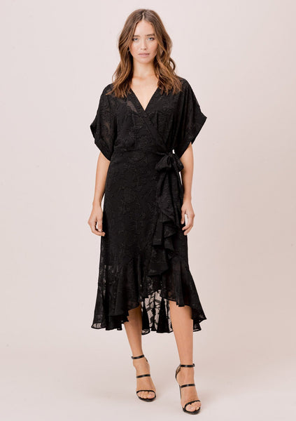 Eva Jacquard Wrap Dress