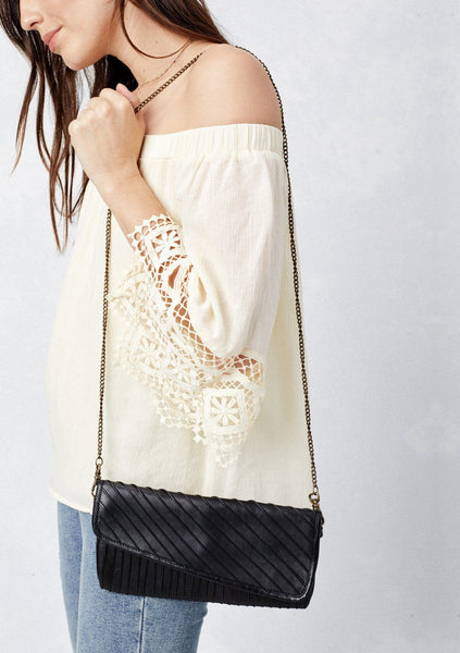 Sadie Leather Date Night Clutch